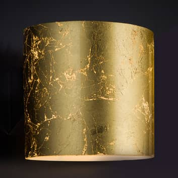 Goldene Designer-Wandleuchte Brick, einflammig
