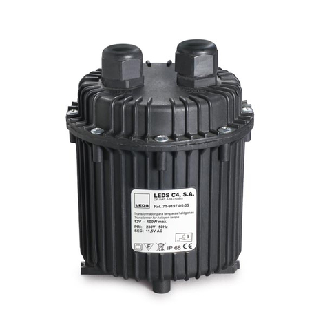 Water proof-transformator med IP68