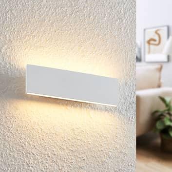 Lindby Ignazia -LED-seinävalaisin, 28 cm valkoinen