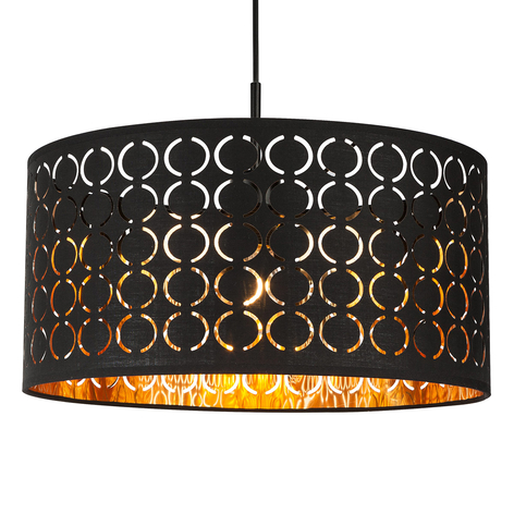 Lámpara colgante Harald en estilo oriental negro