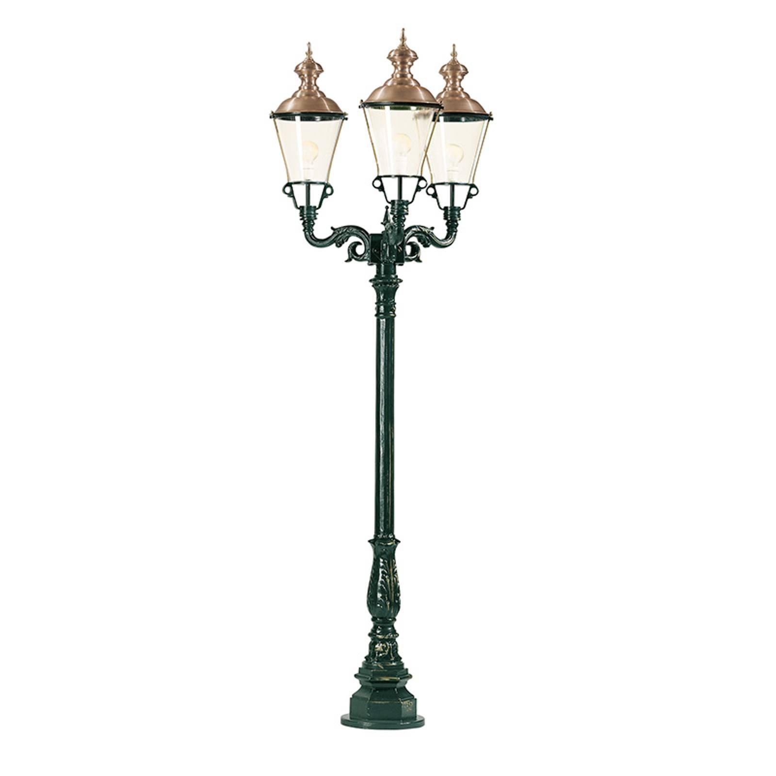 Lampadaire Paris à trois lampes noir
