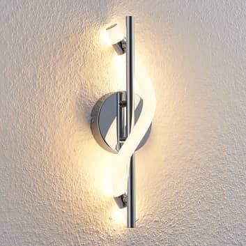 Lucande Curla LED-væglampe i krom