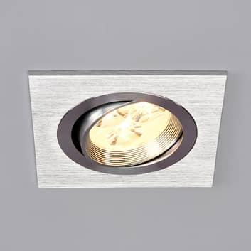 TJARK - kwadratowa wpuszczana lampa LED, aluminium