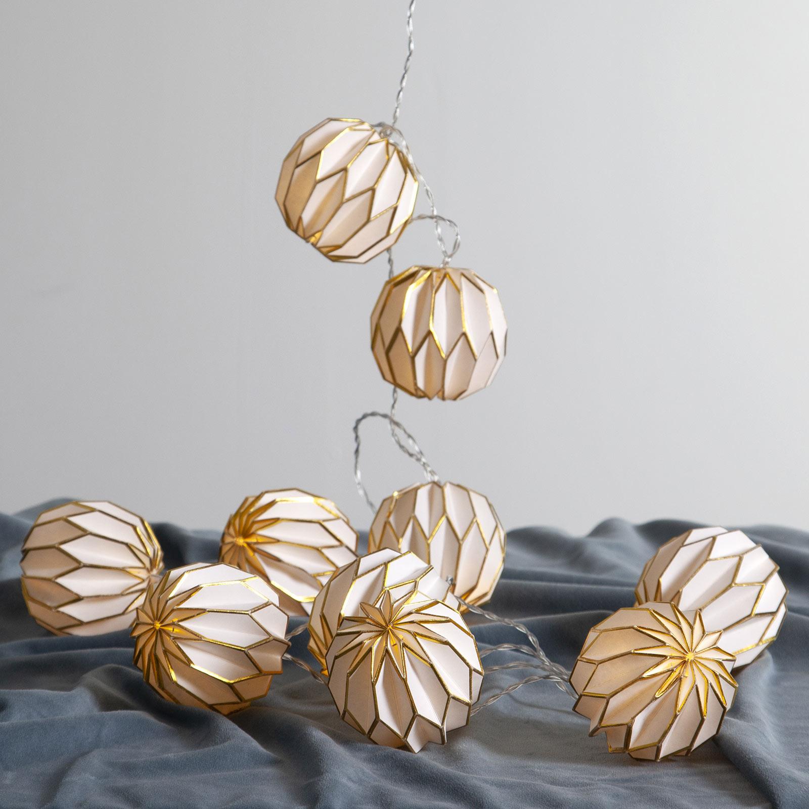 Origam LED-lyslenke, gull