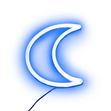 Lampe déco LED Néon télécommande, en forme de lune