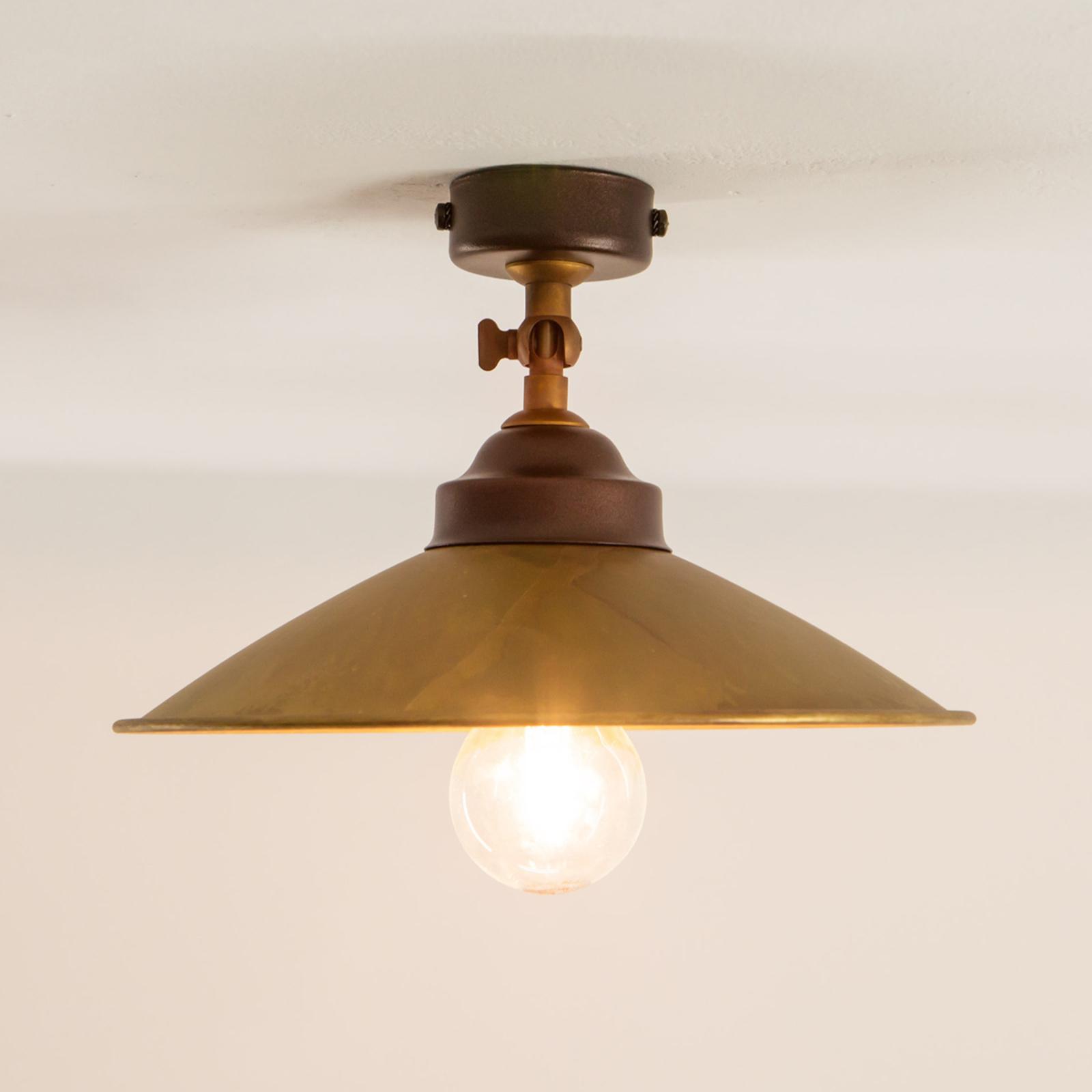 Stropní světlo RUA z oxidované mosazi