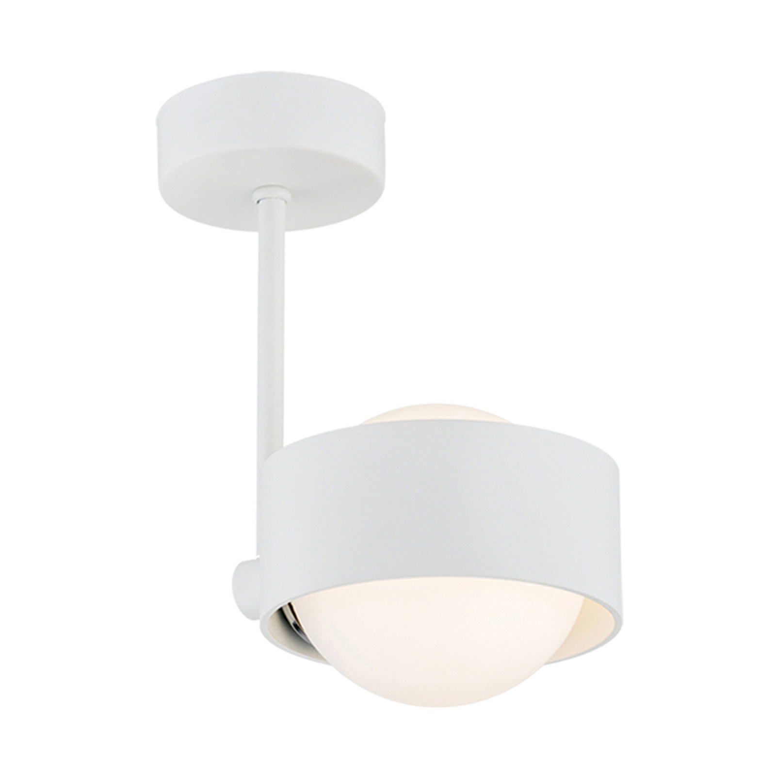 LED-badrumstaklampa Macedo, 1 lampa, vit