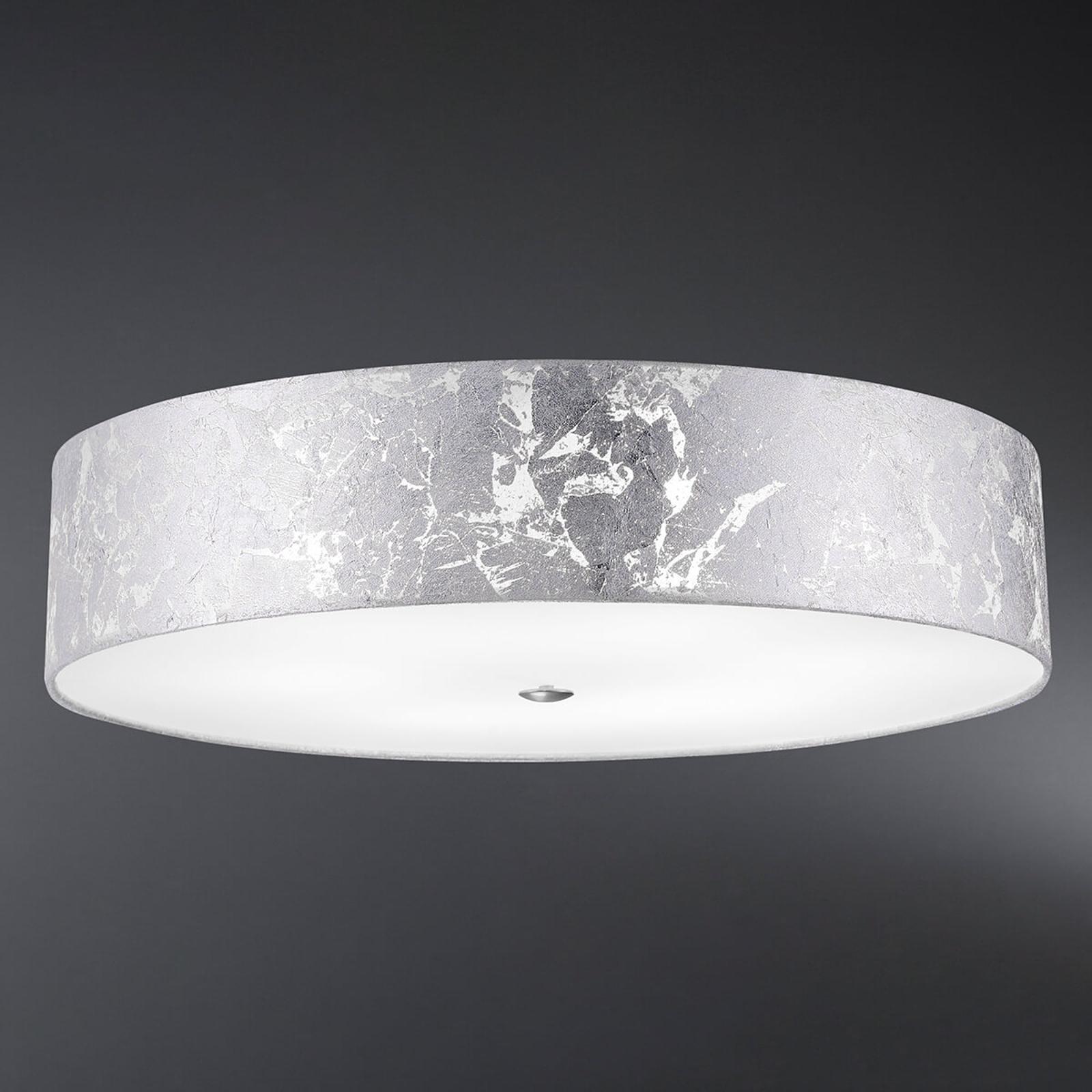 Loop - taklampe, skjerm med bladsølv