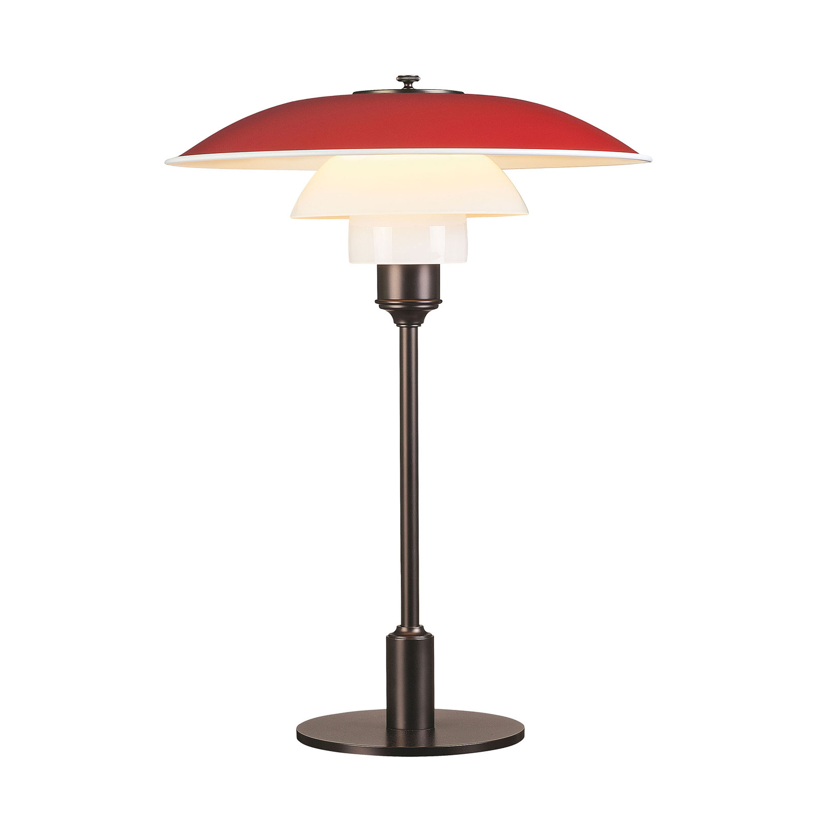Louis Poulsen PH 3 1/2-2 1/2 bordlampe brun/rød