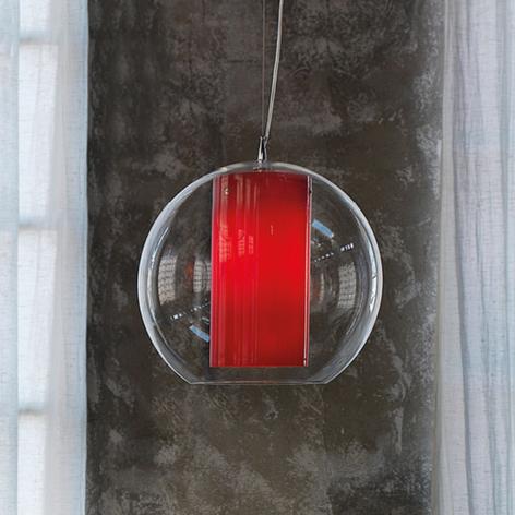 Modo Luce Bolla lámpara colgante plástico rojo