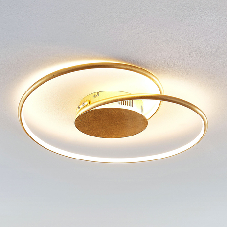 Lindby Joline lampa sufitowa LED, złota, 45 cm