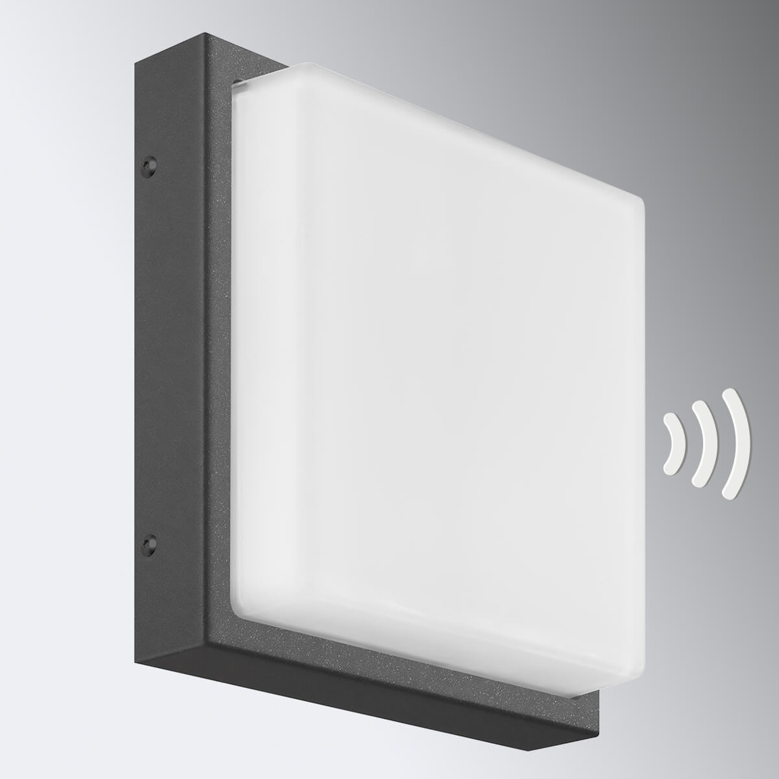 Applique Ernest E27 détecteur mouvement graphite