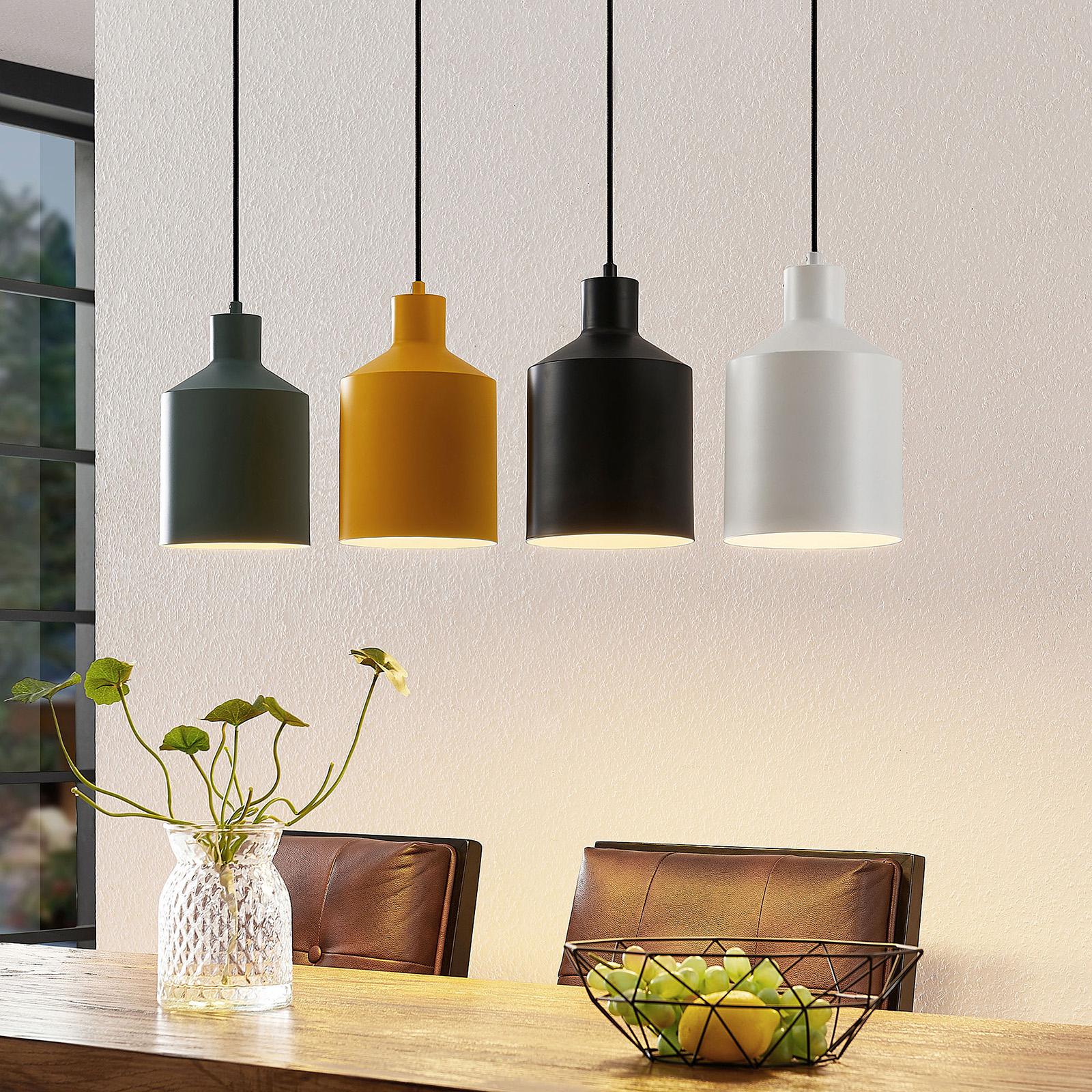 Lindby Tirane závěsné světlo, barevná stínidla