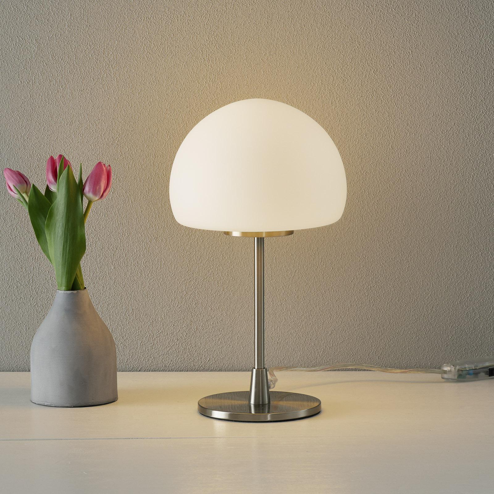 Tafellamp Gaia Big met touchfunctie, wit