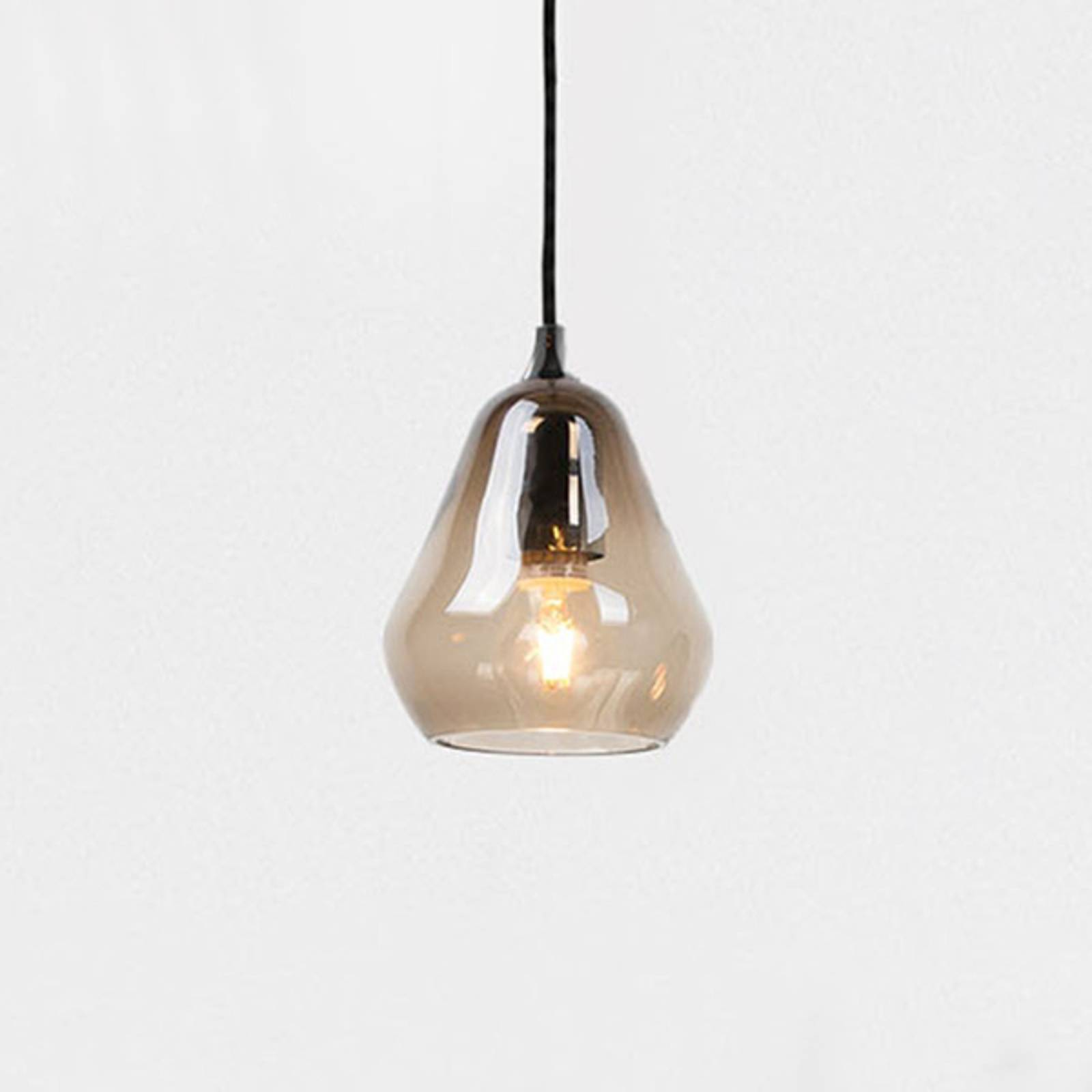 Innermost Core 15 - glazen hanglamp, rookgrijs