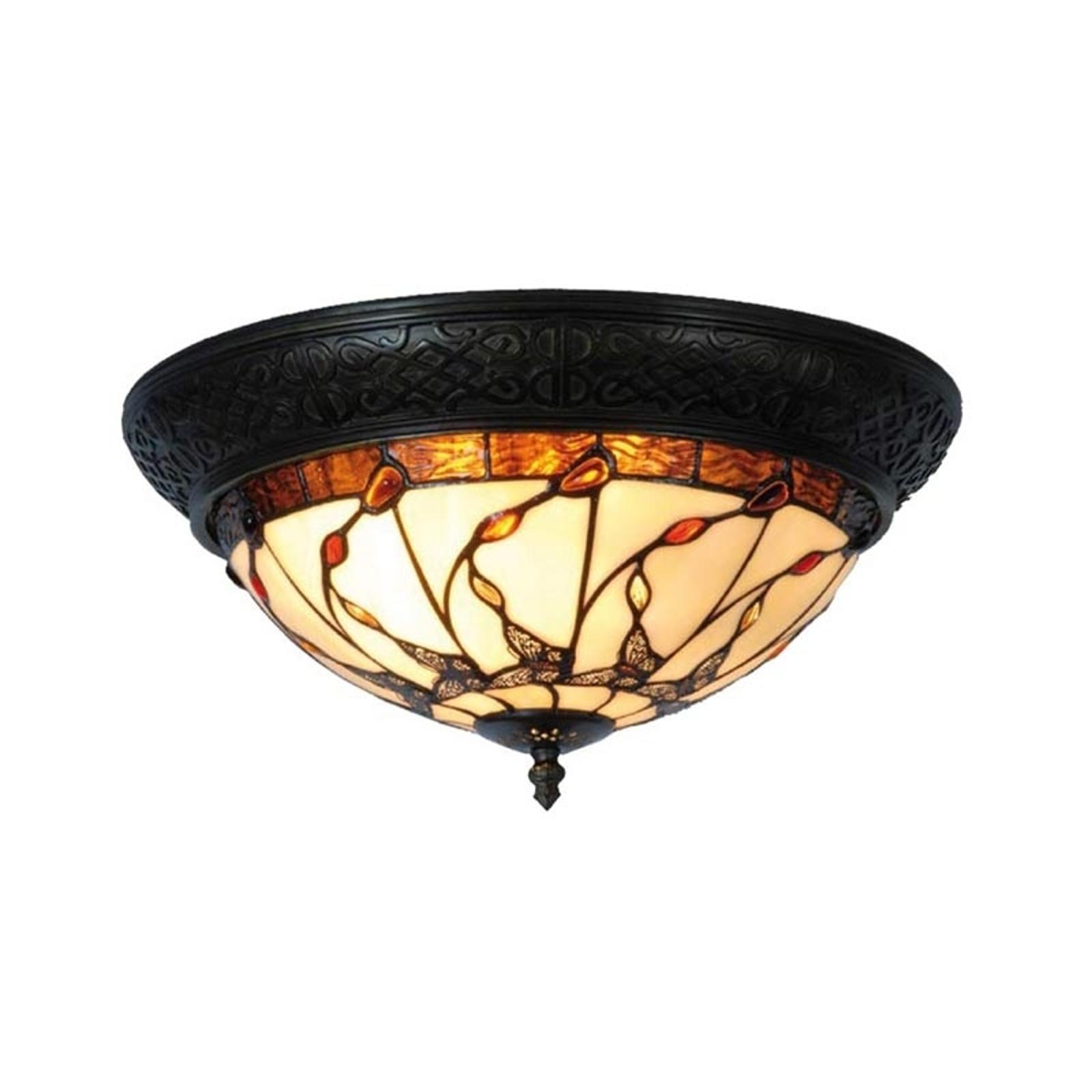 Lampa sufitowa w stylu Tiffany Florent