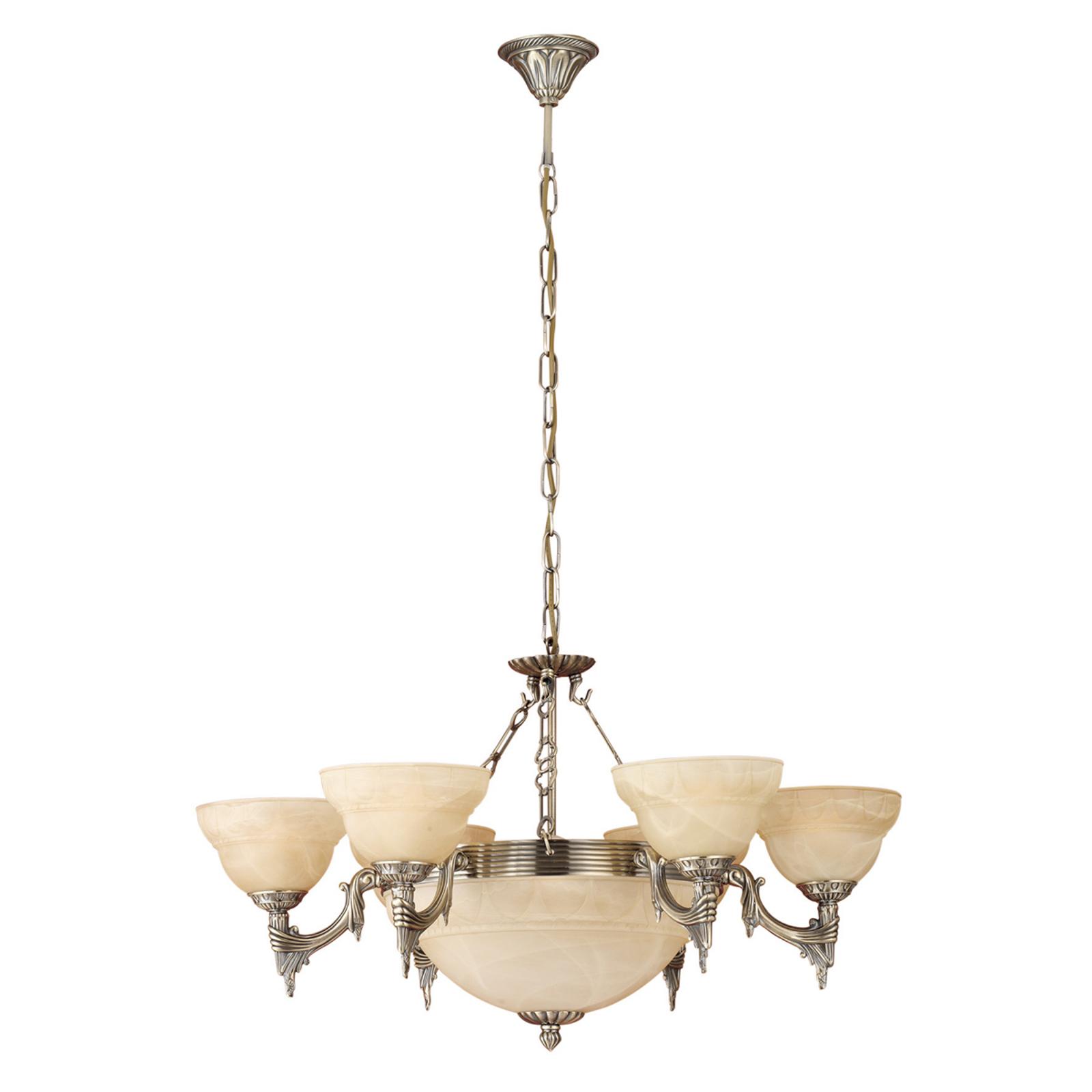 Ornamental lámpara colgante Marilla con 9 brazos