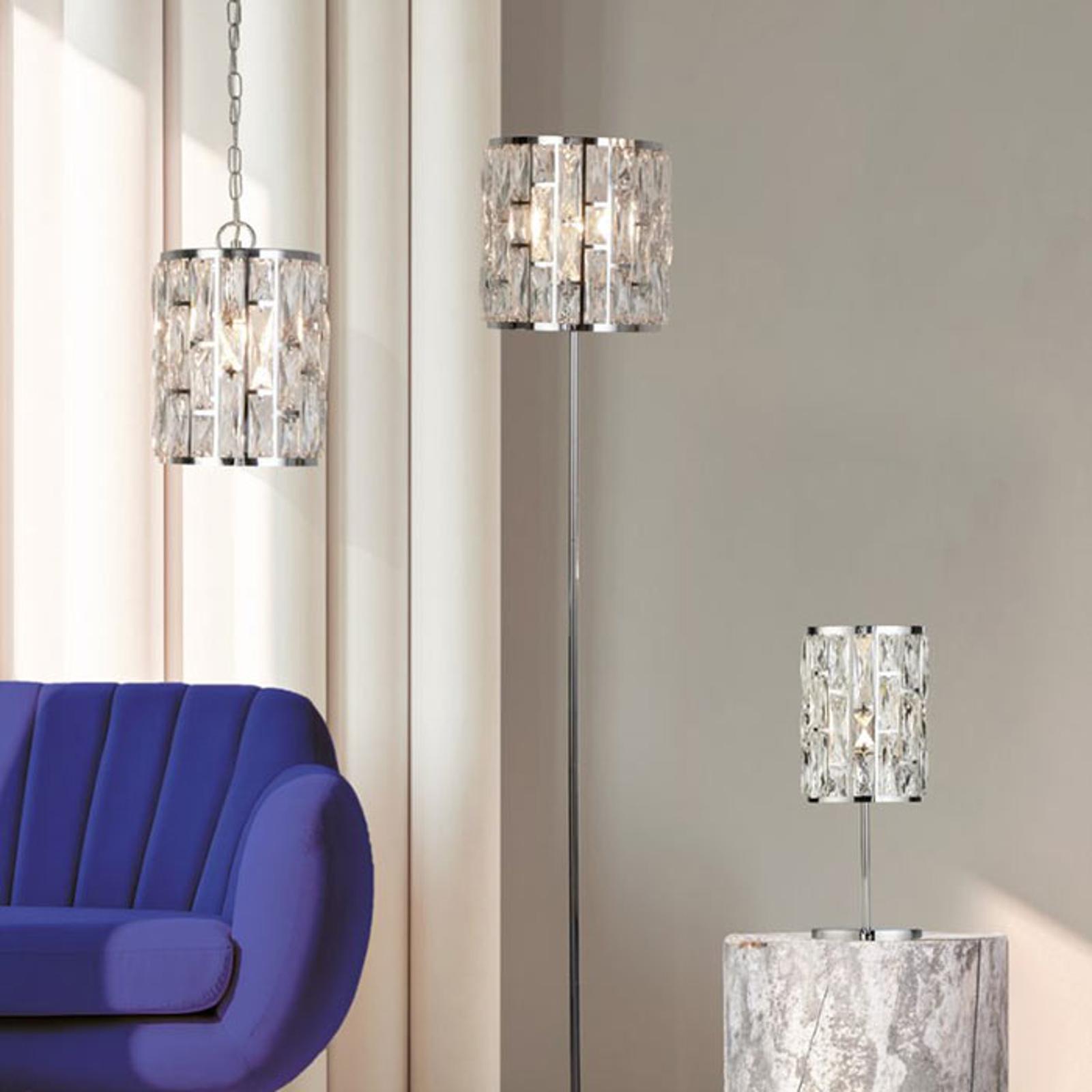 Lampa stojąca Bijou z kryształkami