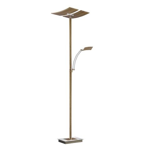 B-Leuchten Duo LED vloerlamp met dimmer, hout
