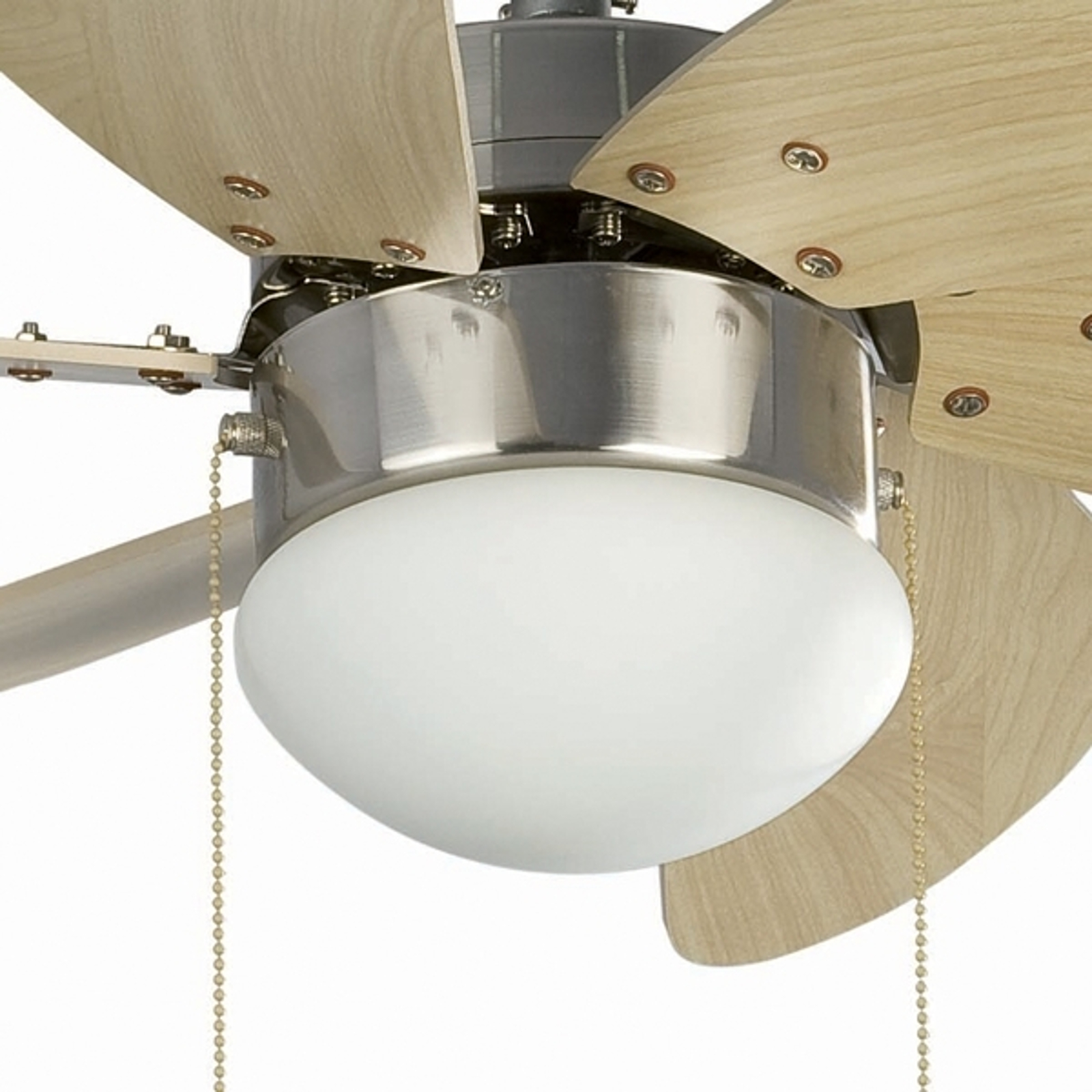 Stropní ventilátor Palao se světlem, niklově matný
