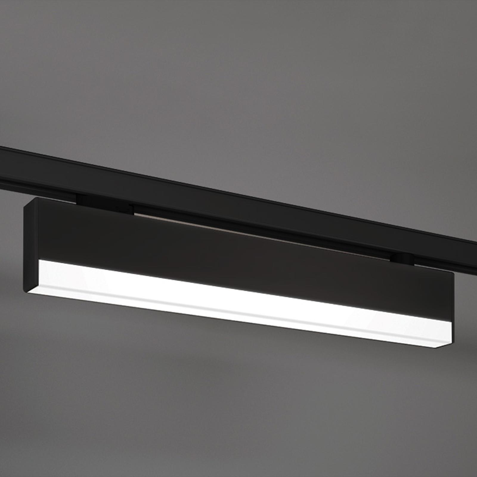 Lampe LED pour rail électrique triphasé, noir