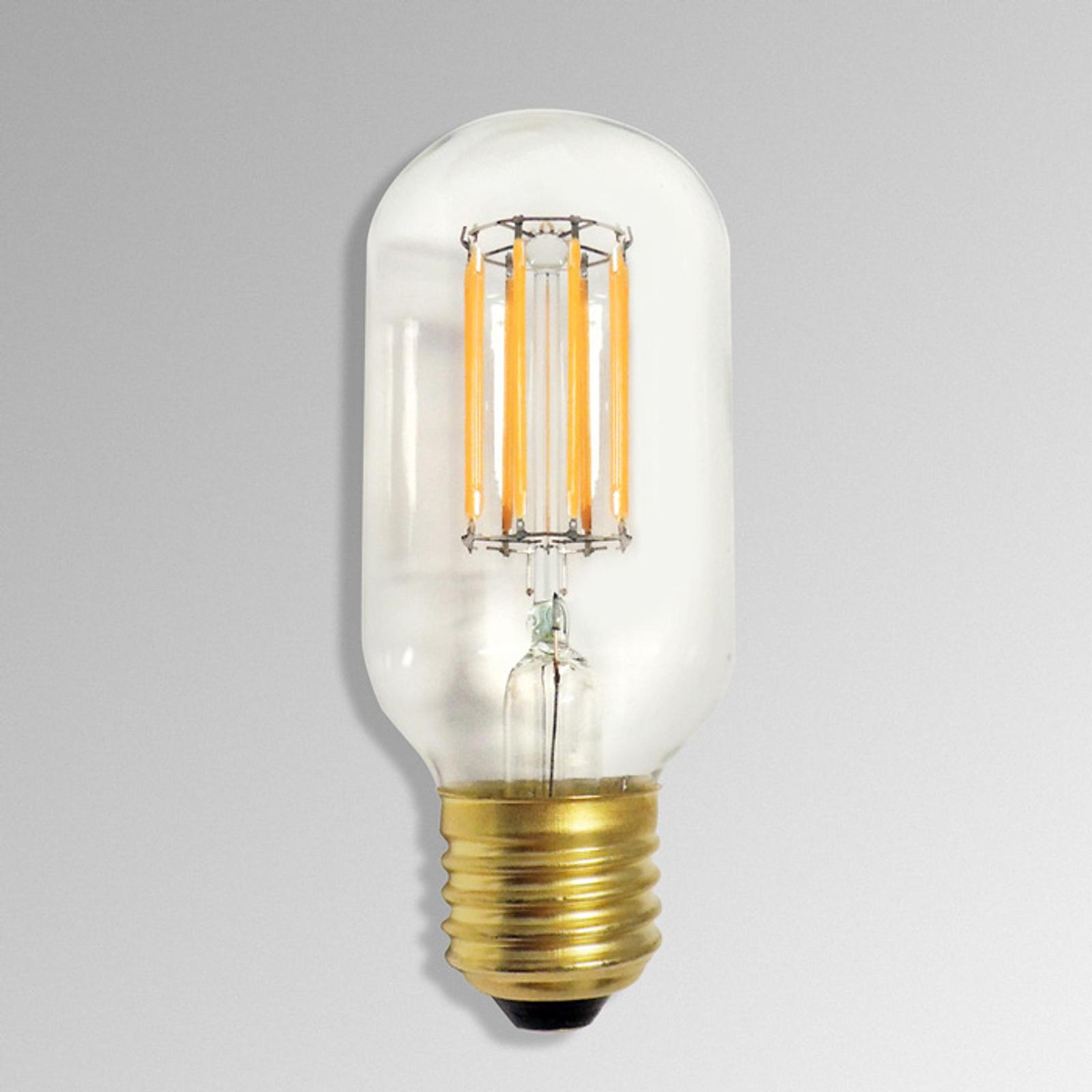 Lampadina LED tubolare 922 E27 4,7W fil. carbone