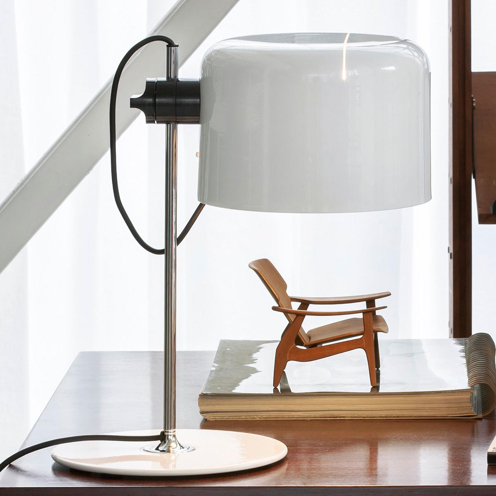 Oluce Coupé - tijdloze Design-tafellamp wit