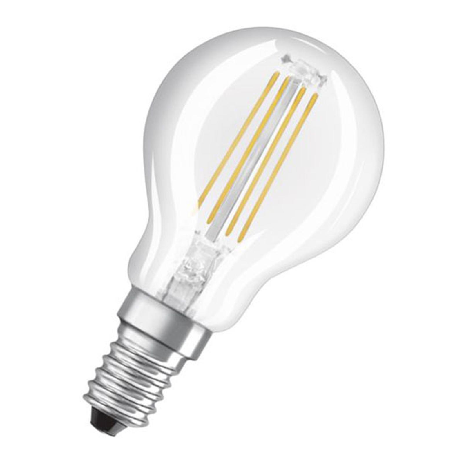 OSRAM Classic P 2 ampoules LED E14 4W 2700K transp