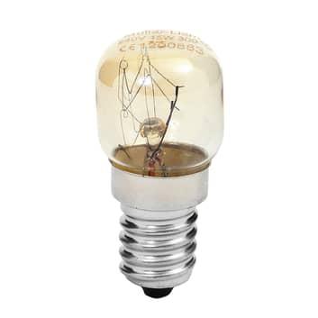 E14 15W Uunin lamppu, lämmin valkoinen, kirkas