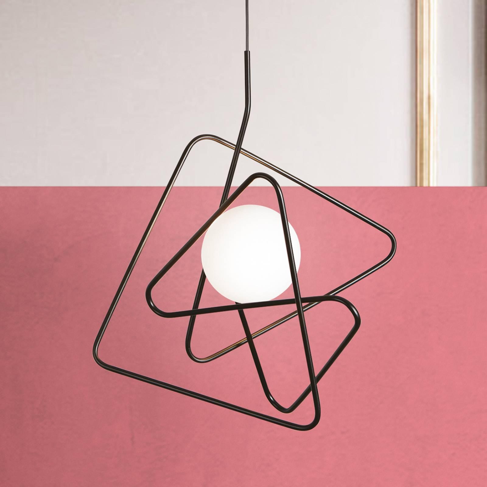 Designerska lampa wisząca Inciucio, czarna