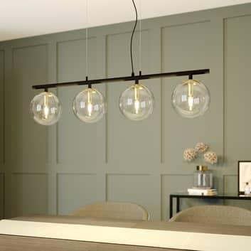 Lucande Sotiana colgante, bolas vidrio, 4 luces