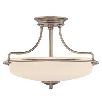 Griffin loftlampe, Ø 43 cm, antik nikkel