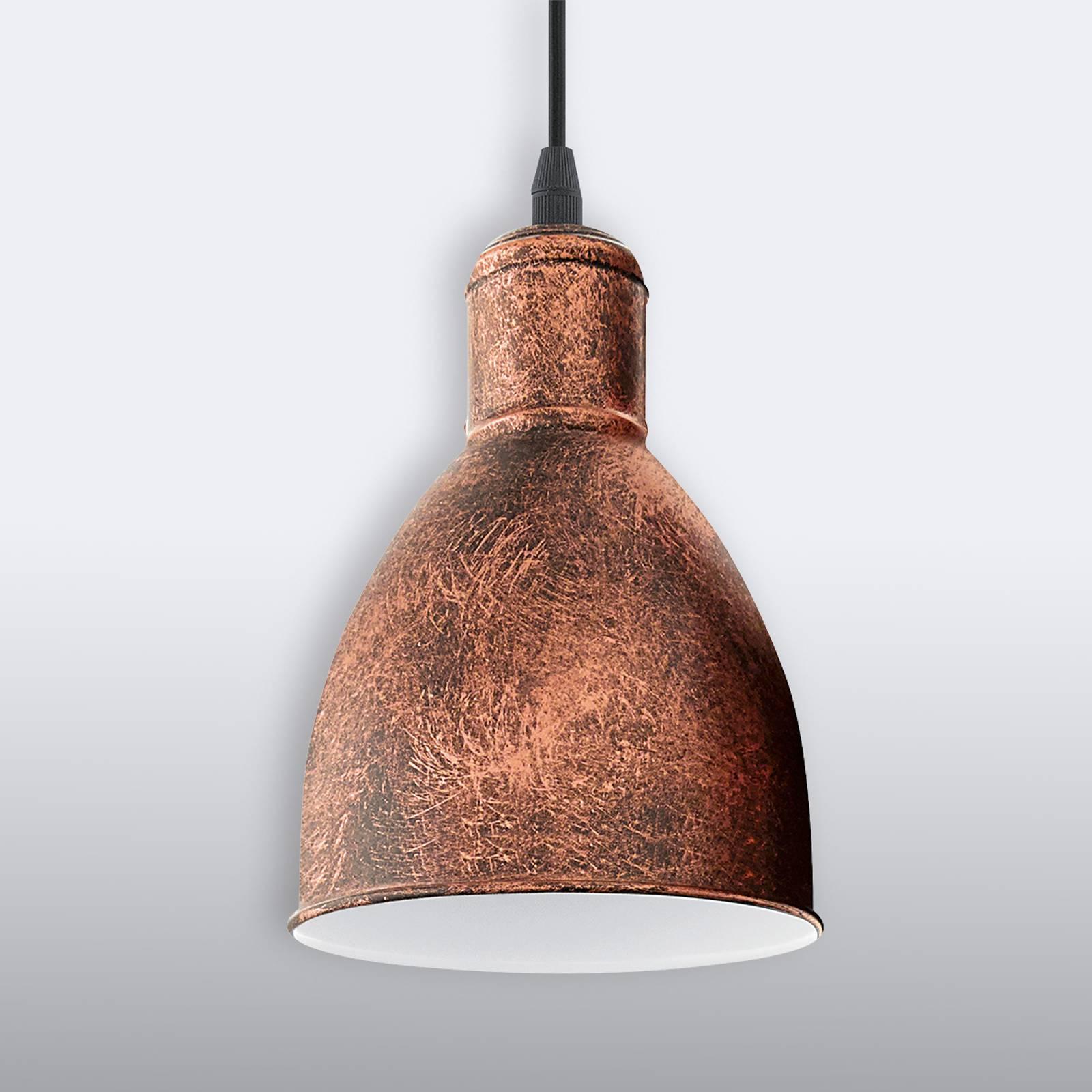 Lampa wisząca Priddy 1, 1-pkt. antyczna miedź