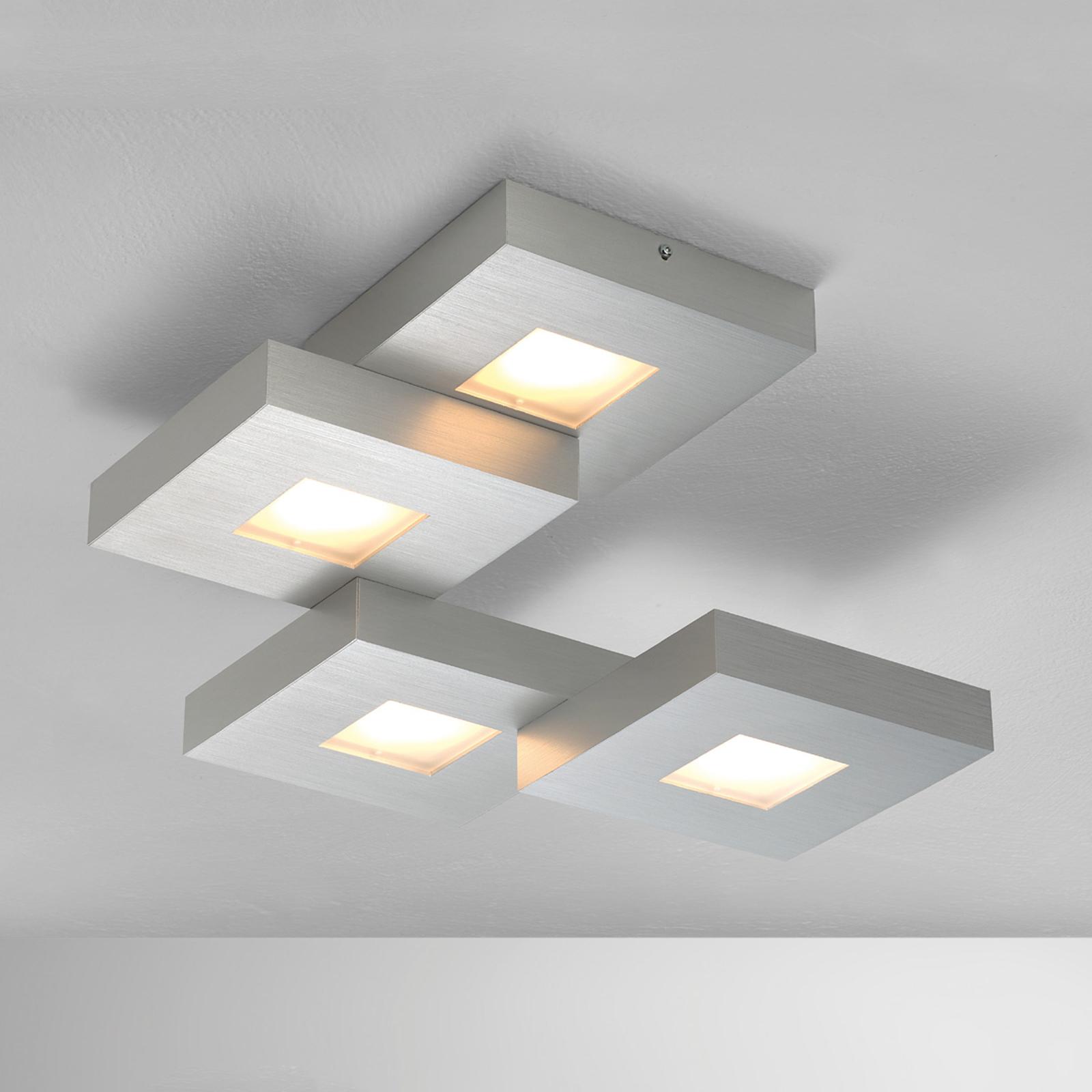Plafonnier LED Cubus disposé en escaliers