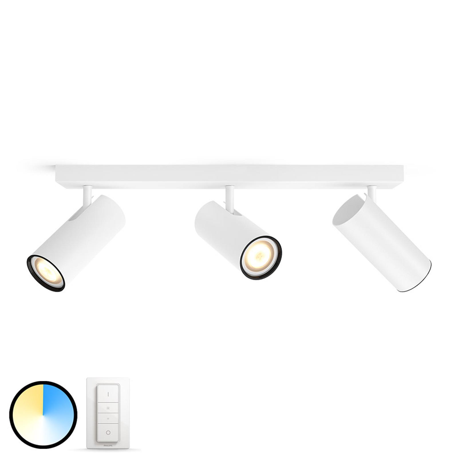 Philips Hue Buratto-LED-spot 3 lkld, dæmper, hvid
