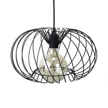 Lámpara colgante Kula, 1 luz, Ø 37 cm, negro