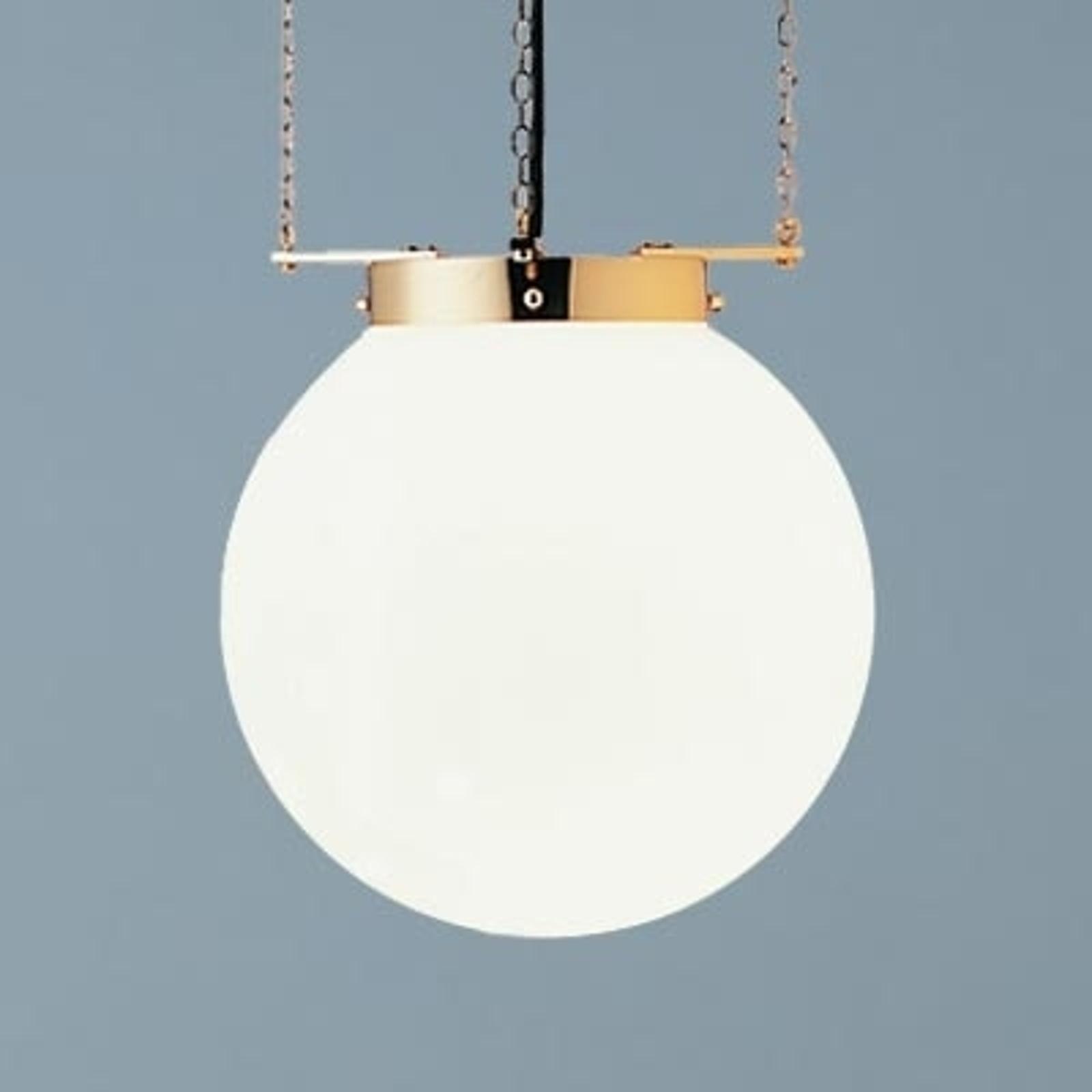 Lampa wisząca w stylu Bauhaus mosiądz 25 cm
