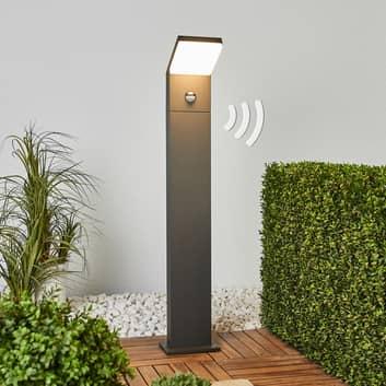 Bewegungsmelder-Pollerleuchte Yolena mit LED 100cm