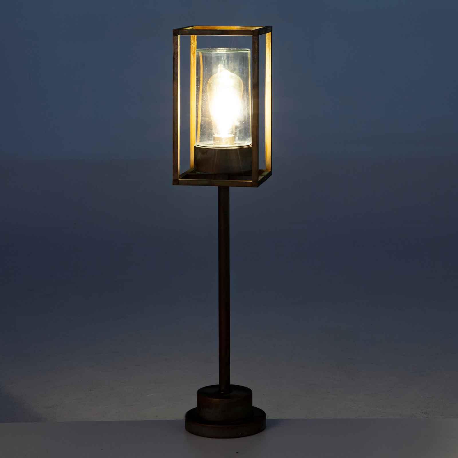 Cubic³ 3370 veilampe antikk messing/klar