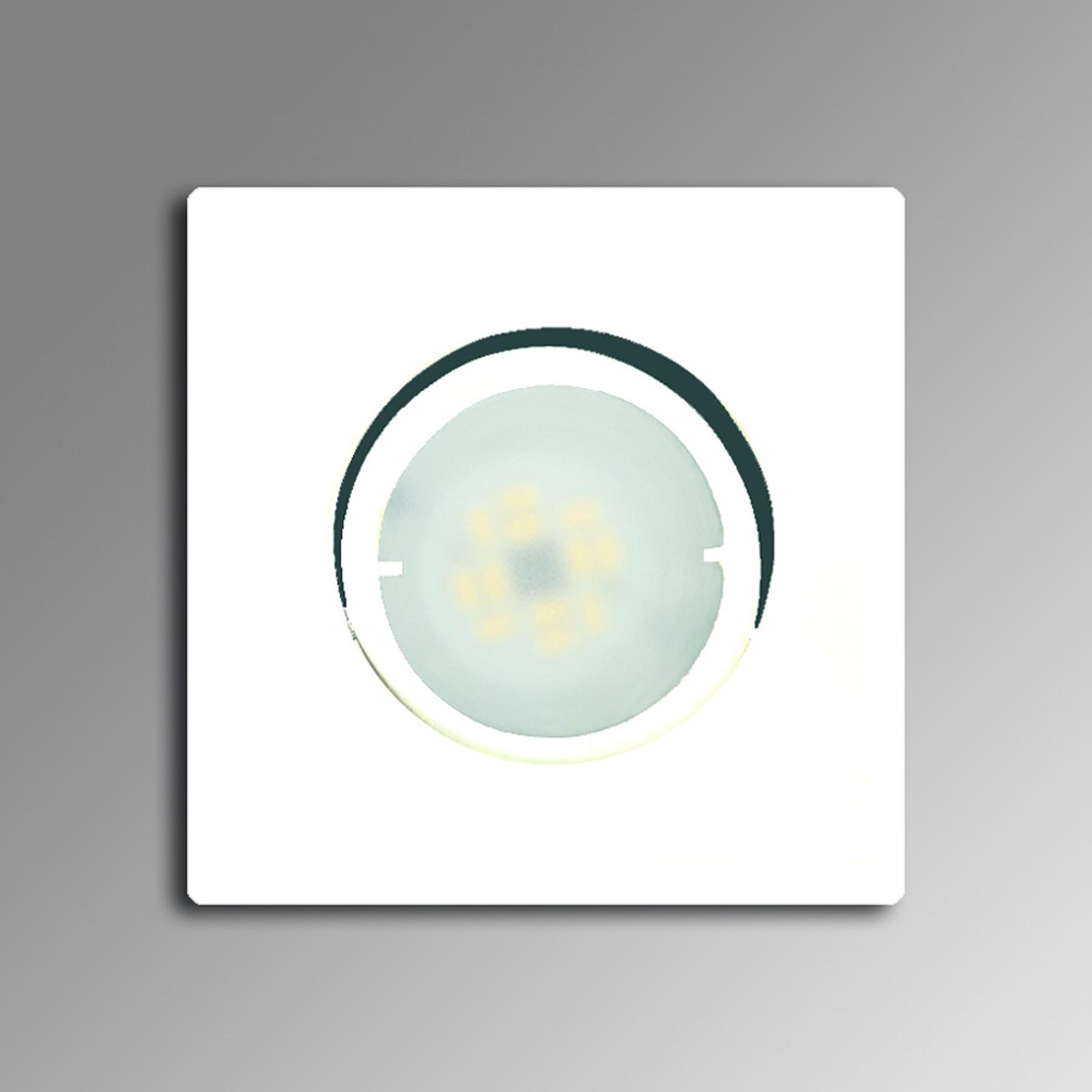 Joanie hvid LED-indbygningslampe, drejelig