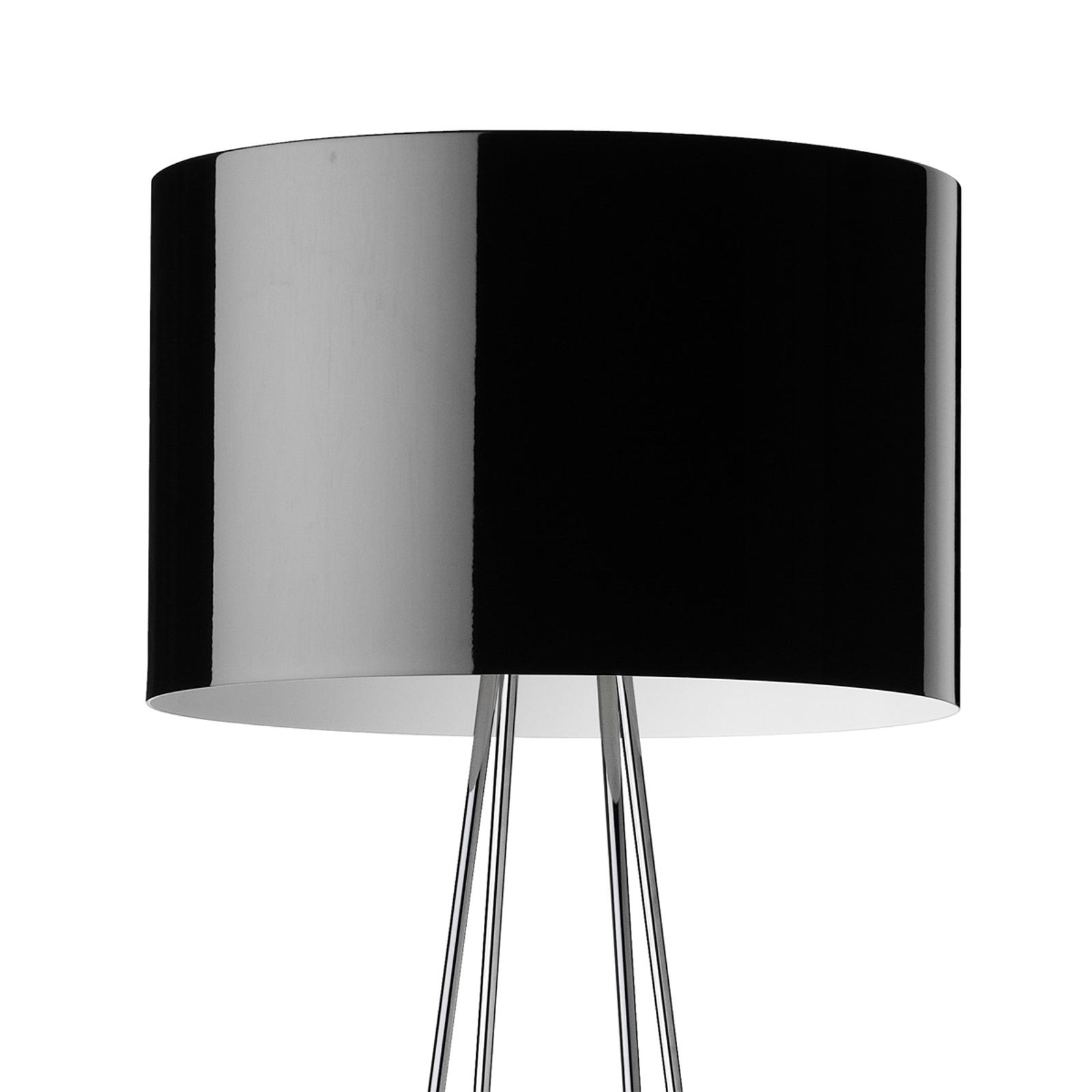 Golvlampa RAY F2 med svart skärm och dimmer