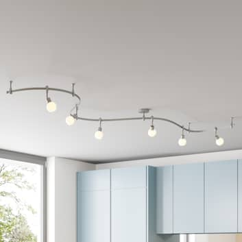 Arcchio Peetz LED-taklampa med glas, 6 lampor