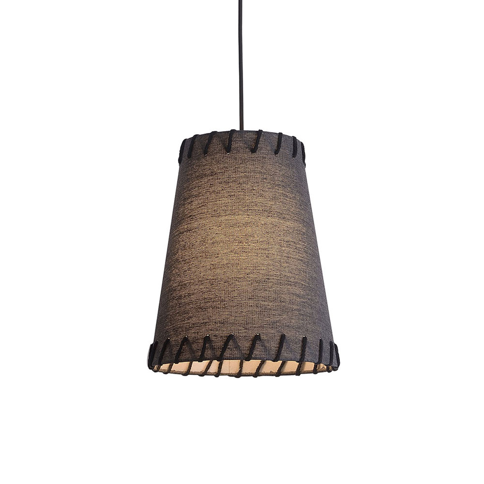 Lampa wisząca Timor, tkanina, czarna