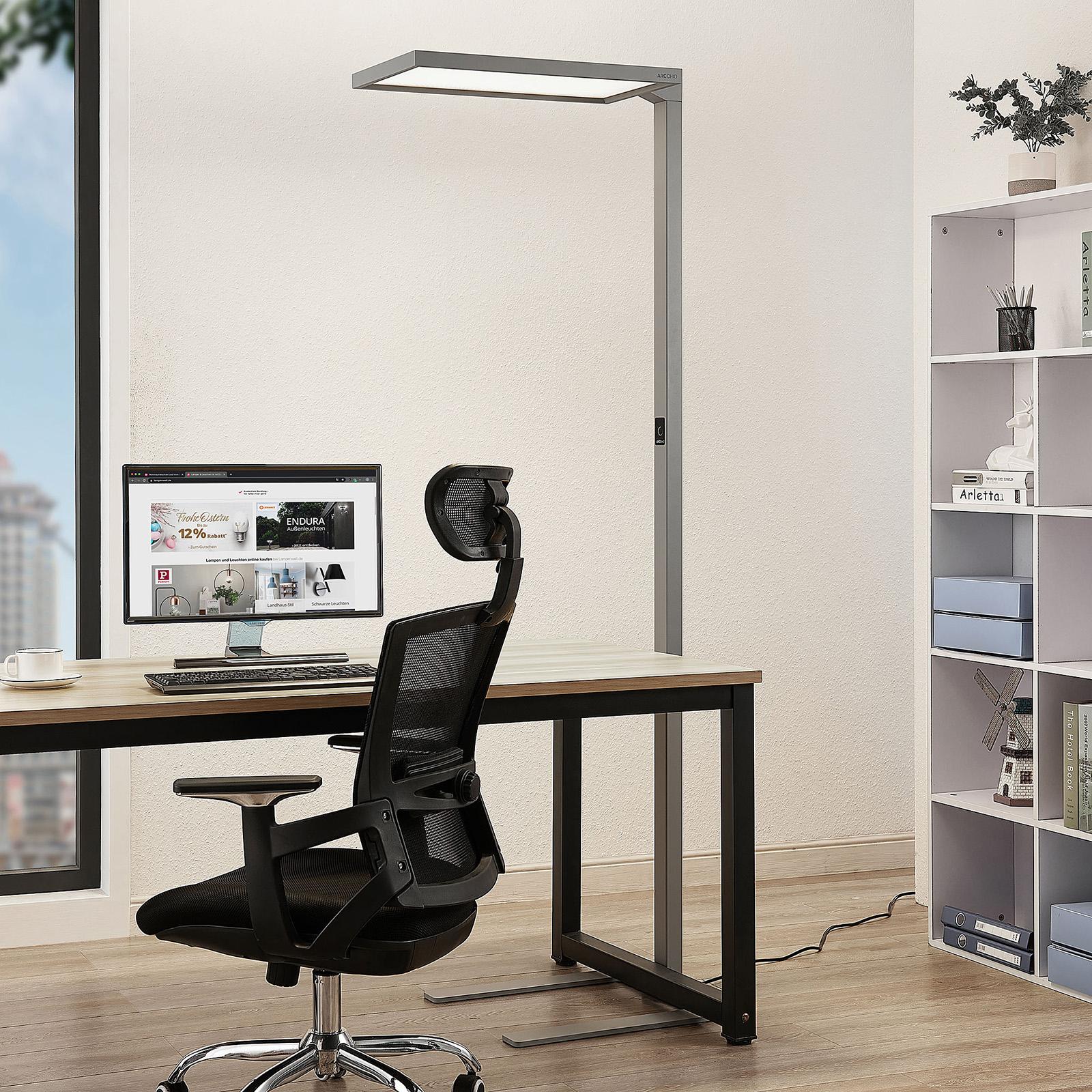 Arcchio Nelus LED-gulvlampe til kontor, dimbar
