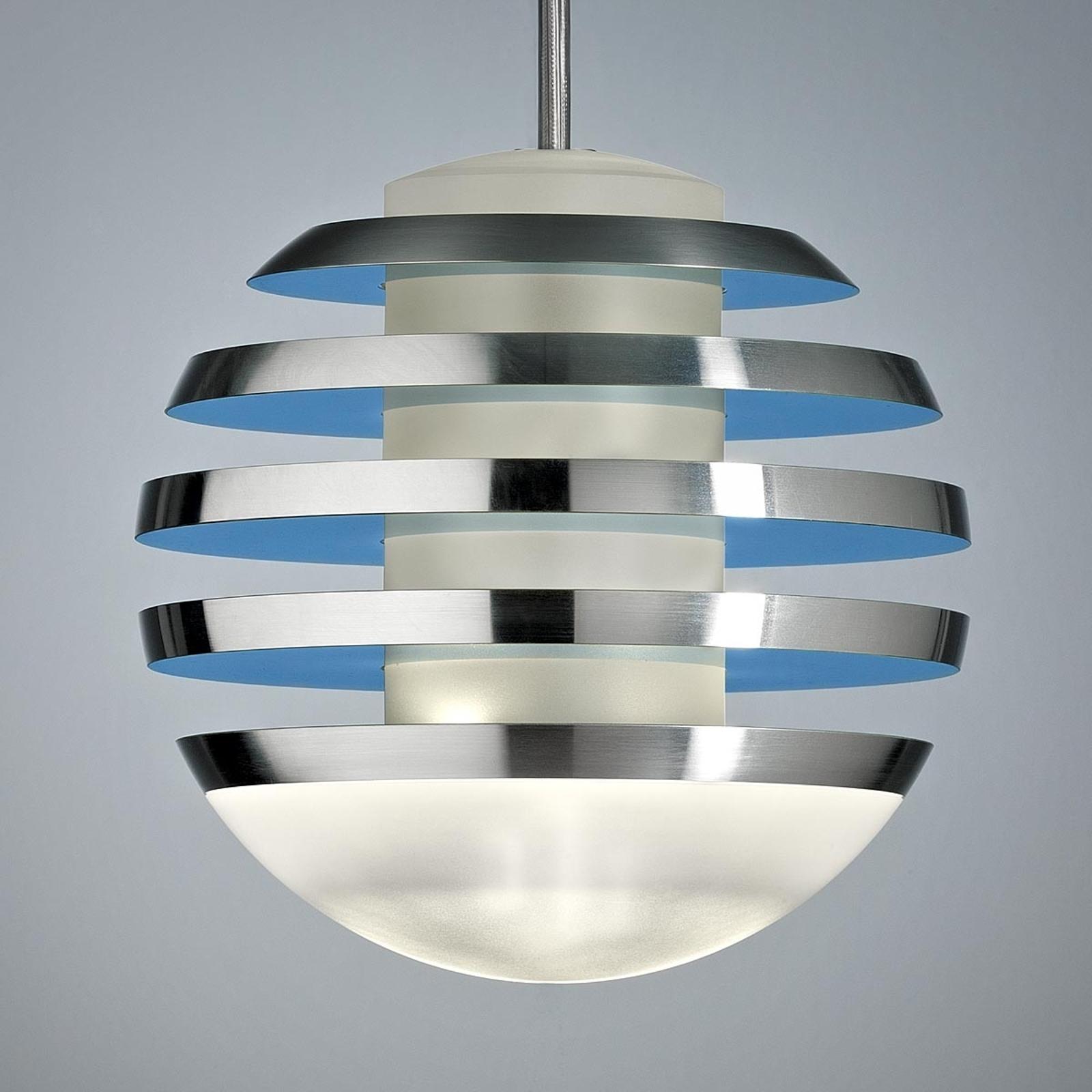 Lampa wisząca LED BULO błękitna