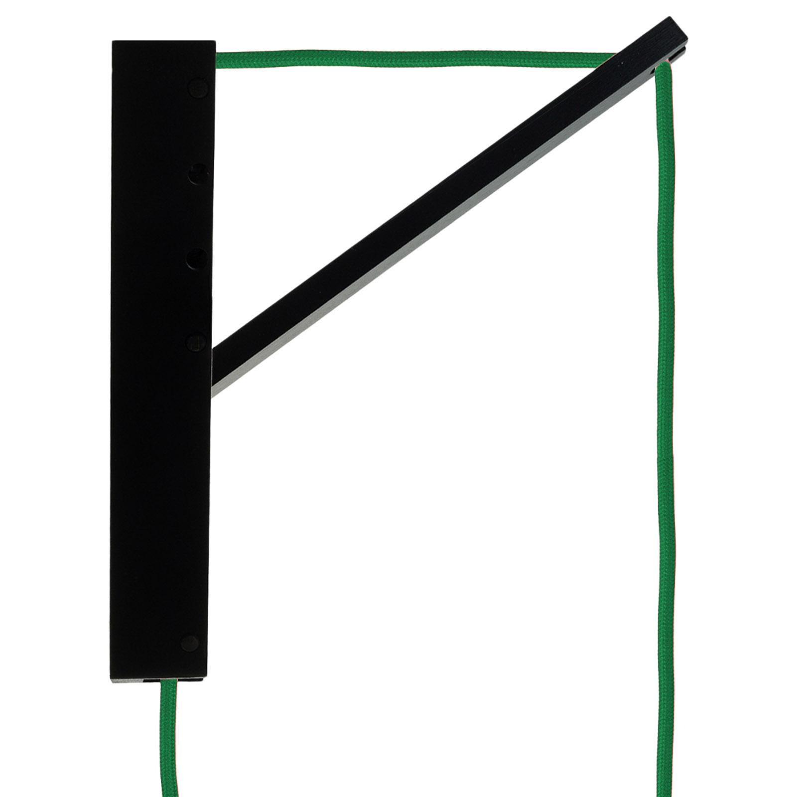 SEGULA Pinokio lampa wisząca czarna, kabel zielony