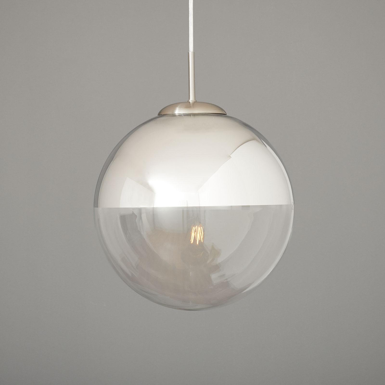Lampa wisząca Ravena, kula szklana, 1-punktowa