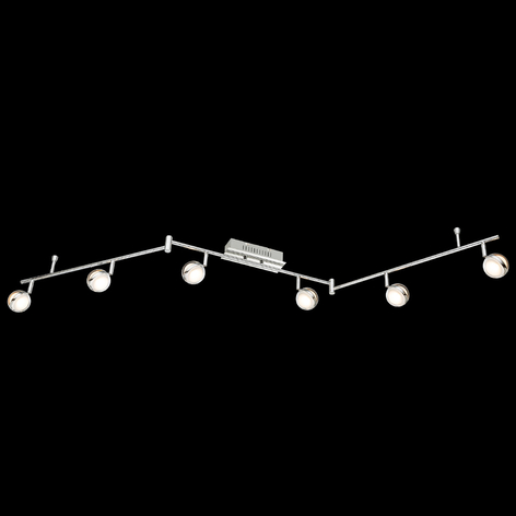 Plafoniera LED Fulton a 6 luci