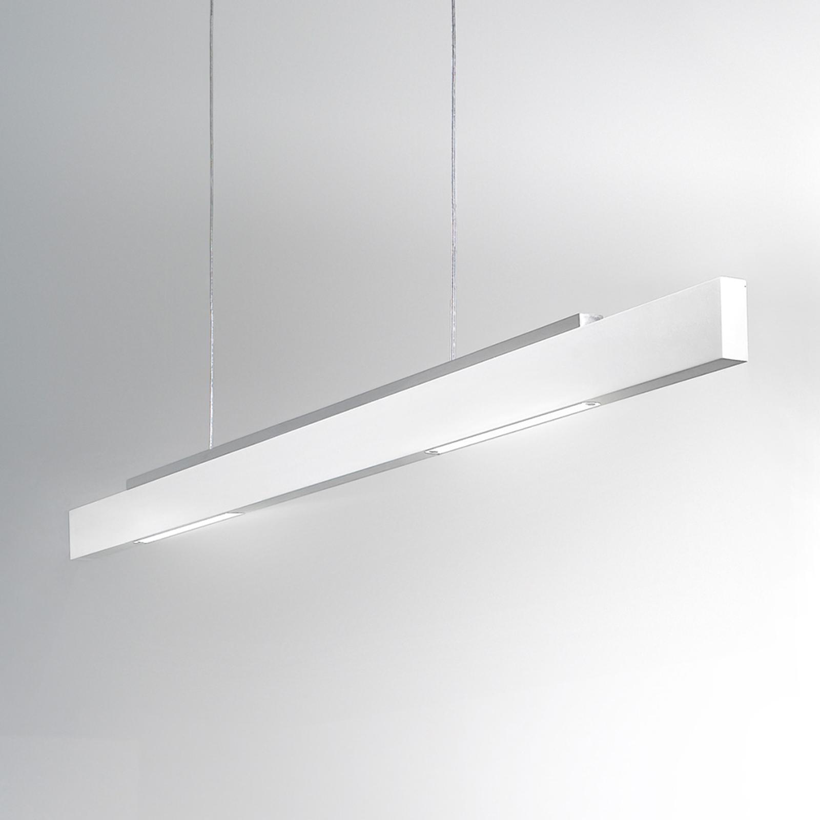 ICONE Tratto - weiße LED-Hängeleuchte, zweiseitig