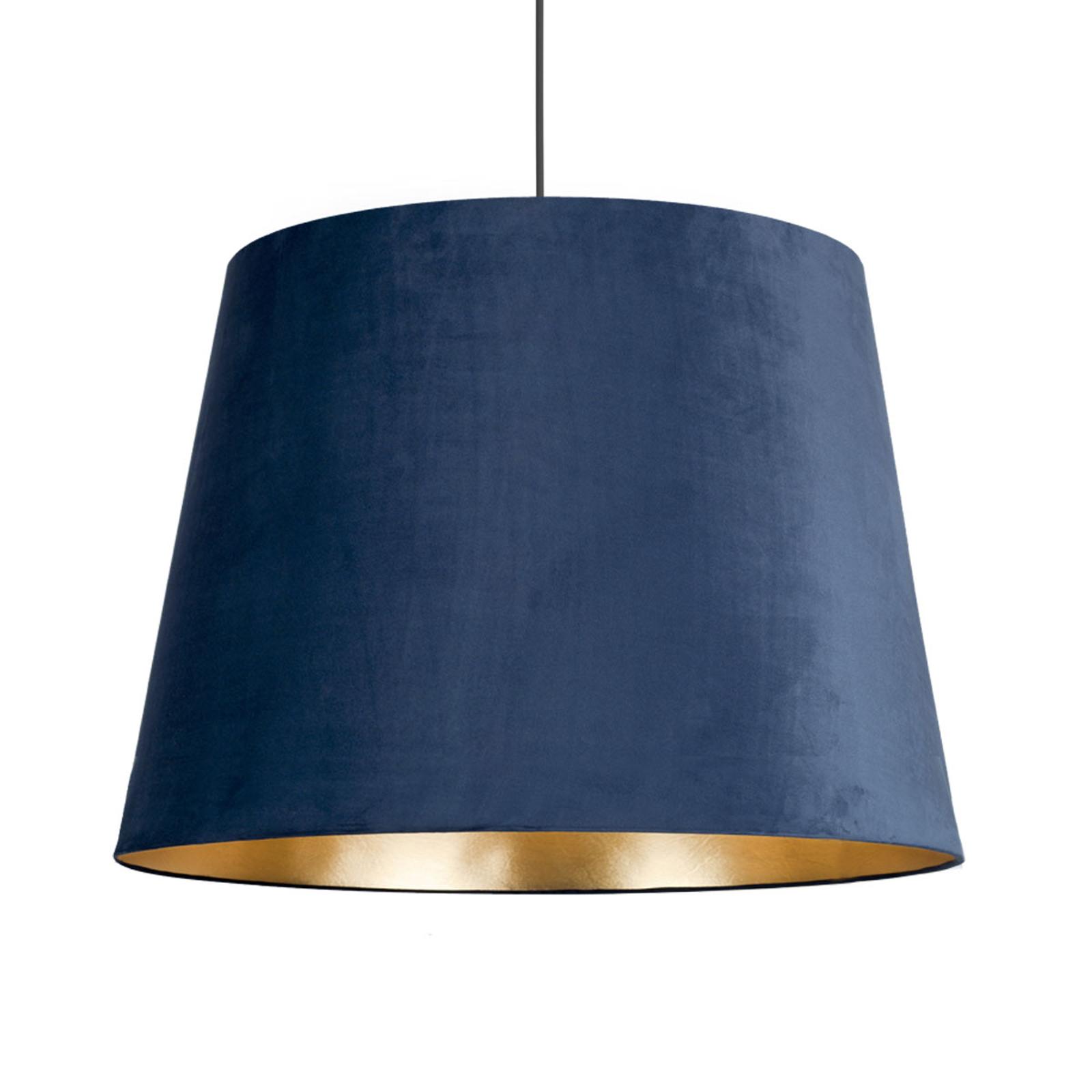 Suspension Cone L abat-jour velours Ø 59cm, bleue